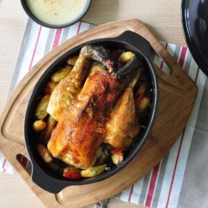 Emile Henry_керамична форма за печене на пиле 9
