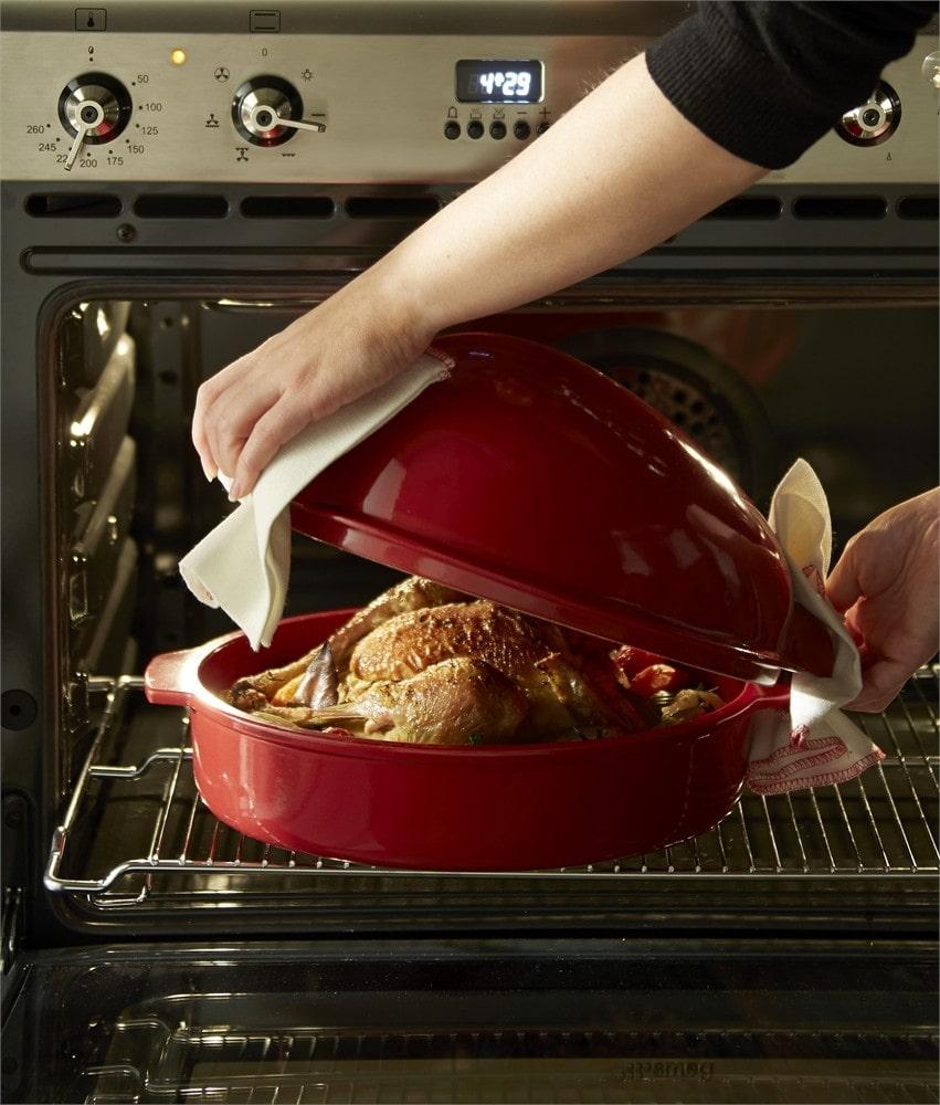 Emile Henry_керамична форма за печене на пиле