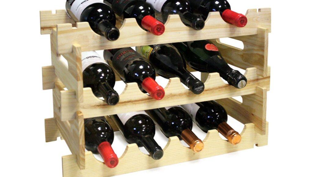 Сглобяема дървена стойка за 12 бутилки